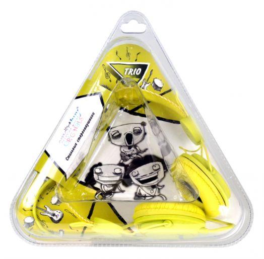 Мониторные наушники SmartBuy® TRIO желтые (2 метра)