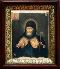 Митрофан Воронежский (19х22), темный киот