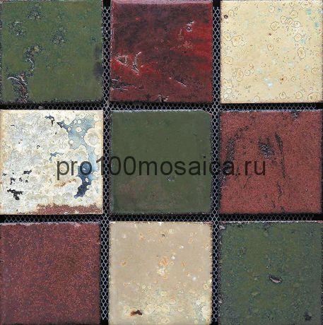 Rust-45(9). Мозаика 96x96x10, серия RUSTICO,  размер, мм: 300*300 (GAUDI)