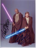 Автографы: Юэн МакГрегор, Сэмюэл Л. Джексон. Звёздные войны. (Star Wars)