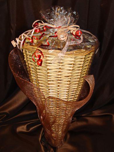 Рог Изобилия большой - подарочный набор с кофе, чаем и конфетами