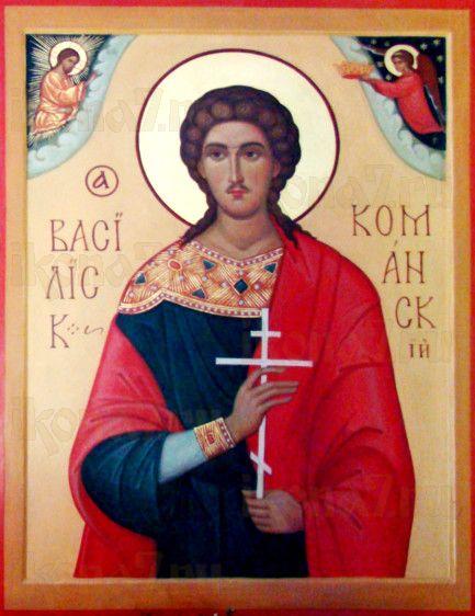 Икона Василиск Команский (рукописная)