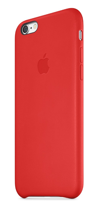 APPLE LEATHER CASE ДЛЯ IPHONE 6/6s red