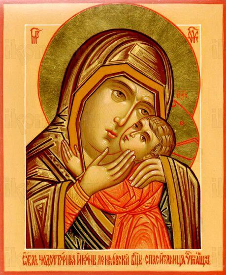 Спасительница утопающих икона Божией Матери (рукописная)