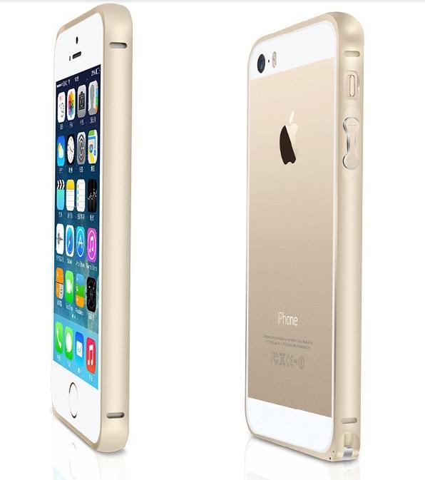 Bumper алюминиевый  0.7mm iphone 5/5s (золотой)