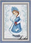 Схема для вышивки крестом Снегурочка