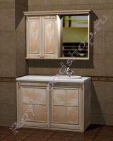 """Гарнитур для ванной комнаты со стиральной машиной """"Челси-2 КОМБИ-L береза"""""""