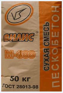 Пескобетон «Вилис» М-400 полимерный (50 кг)