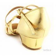 Золотые туфли для танцев для девочек
