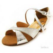 Туфли для бальных танцев серебряные