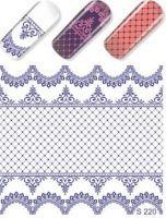 Слайдер-дизайн  S220 синий  (водные наклейки)