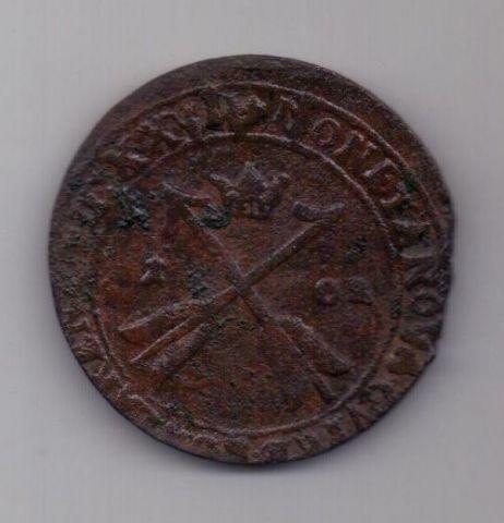 1 оре (эре) 1627 г. редкий год. Швеция