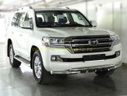 Защита переднего бампера двойная 76 мм  для Toyota Land Cruiser 200 2015 -