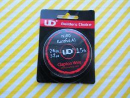 Youde UD Clapton Wire 26ga(Ni80)+32ga(KA1)