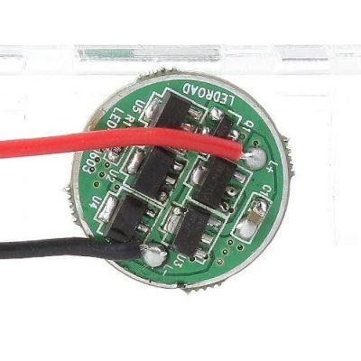 Однорежимный драйвер на AMC7135, 1050/1400/1750мА, 2.5-4.2В, 20мм (3 типа)