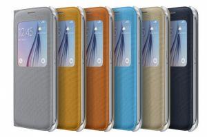 Чехол-книжка (View Cover) Samsung G920F Galaxy S6 с окошком (orange) Оригинал