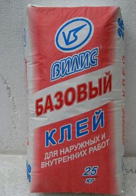 """Клей для ячеистых бетонов """"Вилис-Базовый"""" (25 кг)"""