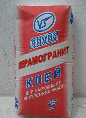 """Клей """"Вилис-Керамогранит"""" (25 кг)"""