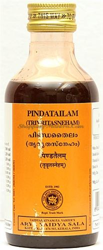 Лечебное масло для тела Пинда Тайлам Коттаккал / Kottakkal Arya Vaidya Sala Pinda Tailam