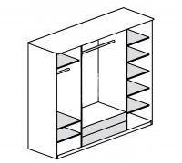 """Шкаф 4-х дверный с зеркалами СБ-074-01 """"Юлианна"""""""