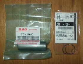 Палец поршня + стопоры Suzuki DR350