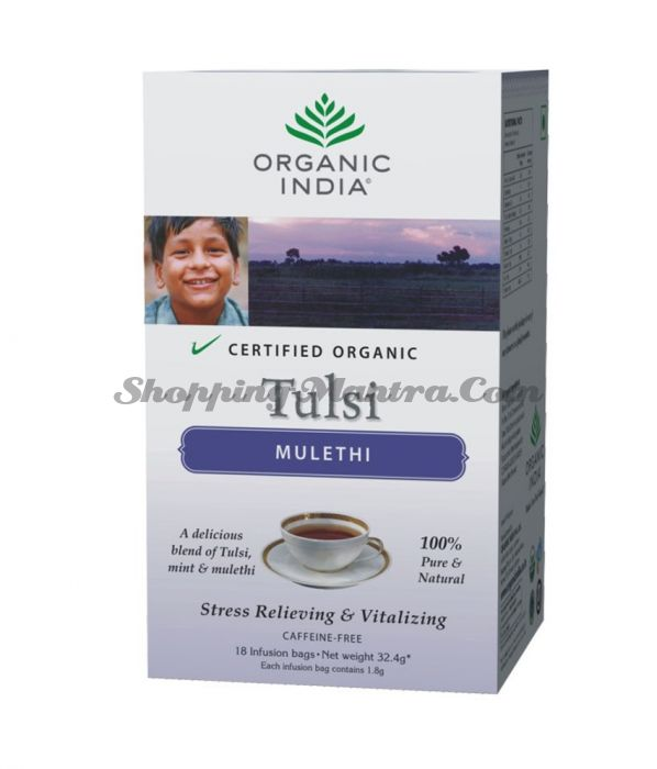 Чай Тулси Лакрица Органик Индия / Organic India Tulsi Mulethi Tea