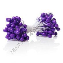 тычинки жемчужные крупные  фиолетовые