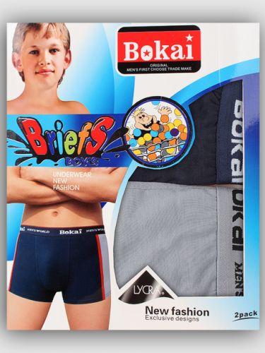 ТРУСЫ-боксеры 6-15 лет  BOKAI  №B0845