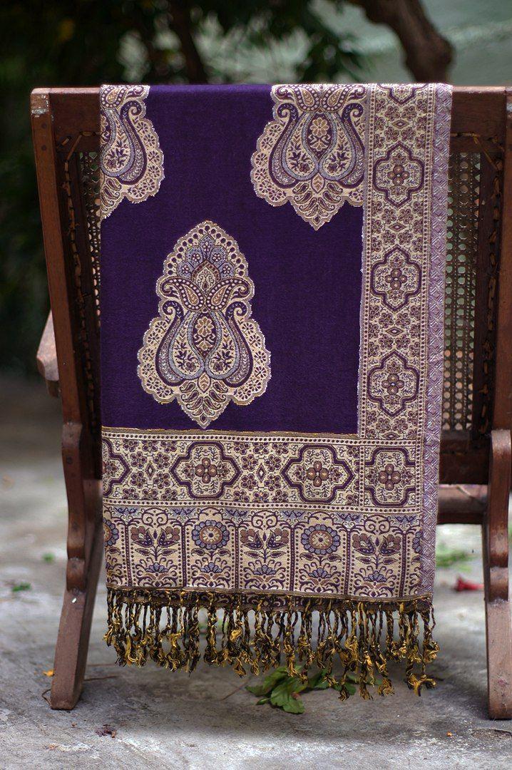 Фиолетовый индийский палантин (отправка из Индии)