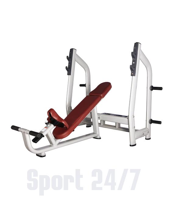 Скамья для жима с положительным наклоном Bronze Gym H-025