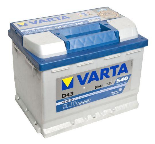 Автомобильный аккумулятор АКБ VARTA (ВАРТА) Blue Dynamic 560 127 054 D43 60Ач ПП