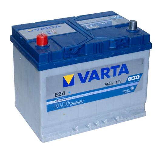 Автомобильный аккумулятор АКБ VARTA (ВАРТА) Blue Dynamic 570 413 063 E24 70Ач ПП
