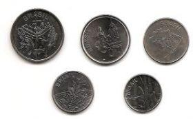 Набор монет Бразилия 1982-1985(5 монет)