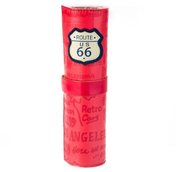 Кожаный пенал «Route 66» - Red