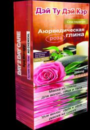 Аюрведическая Глина (Дэй Ту Дэй Кэр) Роза. 100 гр  для здоровья волос и кожи