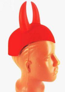 Шляпа дьявола красная с рогами