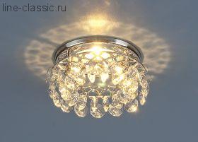 Точ/светильник ES S7070 хром+белый (СH+WH)
