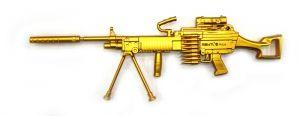 Ручка Пулемет цвет золото