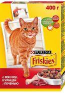Friskies Сухой корм для кошек Мясо/курица/печень (400 г)