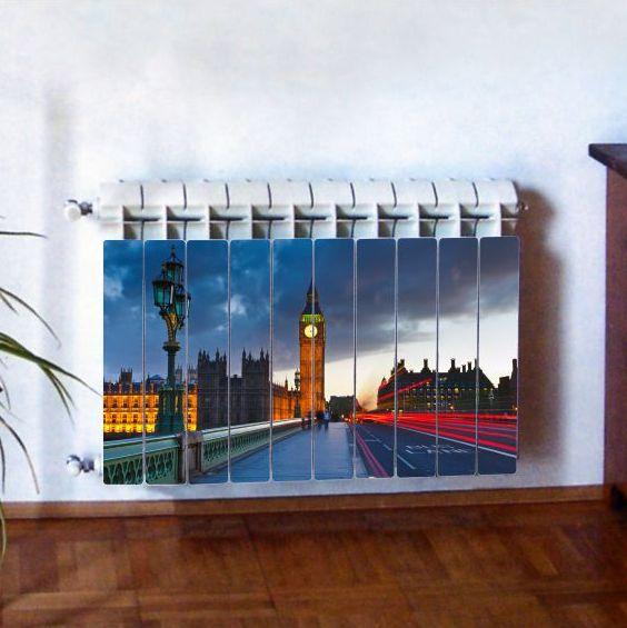 """Фотодекор для радиатора отопления """"CITY 0005"""""""