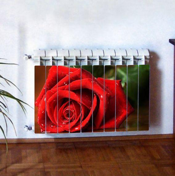 """Фотодекор для радиатора отопления """"Цветы 0001"""""""
