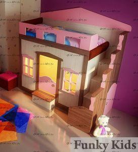 Кровать-чердак Фанки Хоум-11001