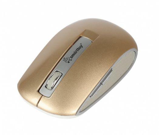 Мышь беспроводная Smartbuy 506AG золотой металлик
