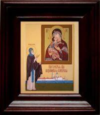 Владимирская Селигерская икона БМ (21х24), простой киот