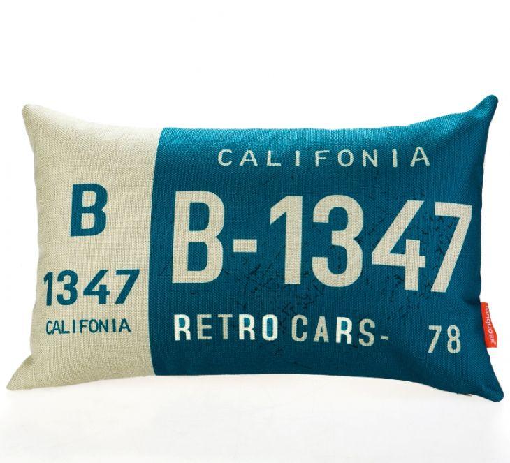 Декоративная подушка «Car Number» - California