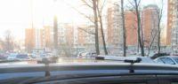 Багажник на крышу Chevrolet TrailBlazer, прямоугольные дуги на рейлинги