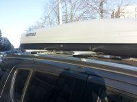 Багажник на крышу Chevrolet TrailBlazer, аэродинамические дуги на рейлинги