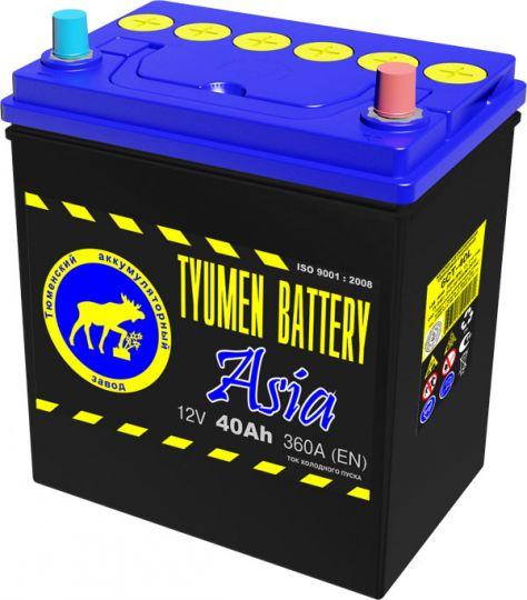 Автомобильный аккумулятор АКБ Тюмень (TYUMEN BATTERY) ASIA 6СТ-40L 40Aч П.П.