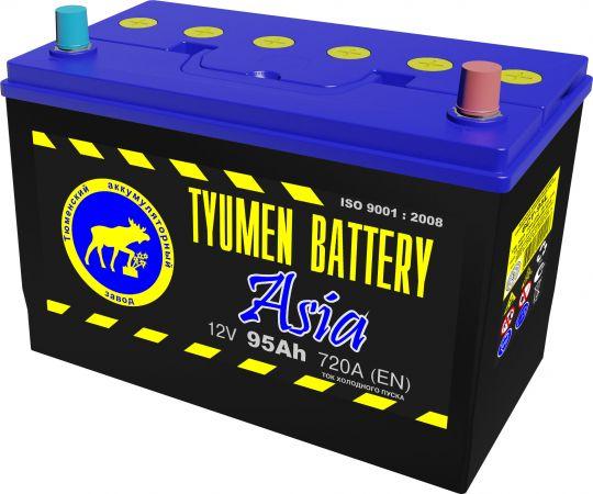 Автомобильный аккумулятор АКБ Тюмень (TYUMEN BATTERY) ASIA 6CT-95L 95Aч О.П. нижнее крепление