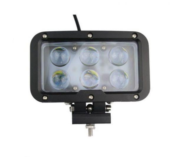 Прямоугольная светодиодная LED фара дальнего света 60W линза